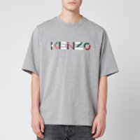 KENZO Men's Multicolour Logo T-Shirt - Pearl Grey - L