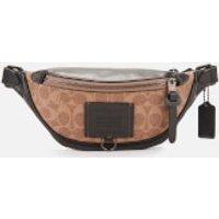 Coach Men's Rivington Belt Bag 7 Signature Print - Khaki