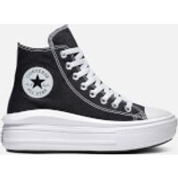 Converse Women's Chuck Taylor All Star Move Hi-Top Trainers - Black/Natural Ivory/White - UK 3