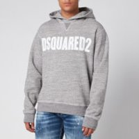 Dsquared2 Men's Cool Fit Logo Hoodie - Grey Melange/White - S