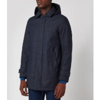 Herno Men's Laminar Hooded Car Coat - Blue Check - 54/XXL