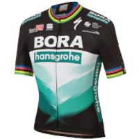 Sportful Bora Hansgrohe Ex World Champion BodyFit Team Jersey - Black/Green - S