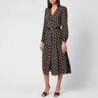 MICHAEL MICHAEL KORS Women's Print Midi Dress - Black - L