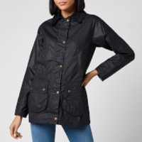 Barbour X Laura Ashley Womens Poplars Wax Jacket - Navy/Shepherds Purse - UK 12
