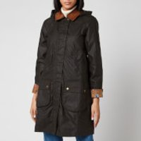 Barbour X Laura Ashley Womens Yews Wax Coat - Olive/Indienne - UK 8