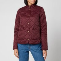 Barbour X Laura Ashley Womens Elm Quilt Coat - Bordeux/Indienne - UK 8