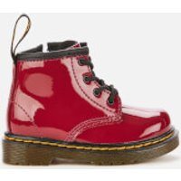 Dr. Martens Toddlers' 1460 Patent Lamper Lace-Up 4 Eye Boots - Dark Scooter Red - UK 5 Toddler
