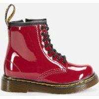 Dr. Martens Dr. Martens Toddlers' 1460 Patent Lamper Lace-Up Boots - Dark Scooter Red - UK 5.5 Toddler