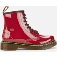 Dr. Martens Kids' 1460 Patent Lamper Lace-Up Boots - Dark Scooter Red - UK 3 Kids