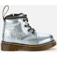 Dr. Martens Toddlers' 1460 Crinkle Metallic Lace-Up 4 Eye Boots - Teal - UK 4 Toddler