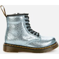 Dr. Martens Toddlers 1460 Crinkle Metallic Lace-Up Boots - Teal - UK 9 Toddler