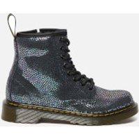 Dr. Martens Kids' 1460 Spot Metallic Suede Lace-Up Boots - Black - UK 10 Kids