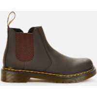 Dr. Martens Kids 2976 Wildhorse Leather Lace-Up Boots - Gaucho - UK 10 Kids