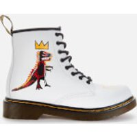 Dr. Martens Basquiat Kids' 1460 Leather Lace-Up Boots - White - UK 12 Kids