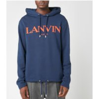 Lanvin Men's Chest Logo Hoodie - Navy - S