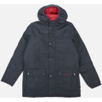 Barbour Heritage Boys Durham Wax Jacket - Navy/Red - XXL (14-15 Years)