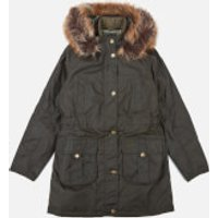 Barbour Heritage Girls Homeswood Wax Jacket - Olive - XL (12-13 Years)