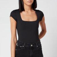 Free People Women's Square Eyes Bodysuit - Black - S