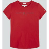 Tommy Hilfiger Girls Essential Short Sleeve T-Shirt - Deep Crimson - 14 Years