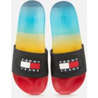 Tommy Jeans Men's Degrade Seasonal Flat Slide Sandals - Multi - UK 8