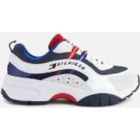 Tommy Jeans Men's Heritage Chunky Running Style Trainers - Red/White/Blue - UK 11