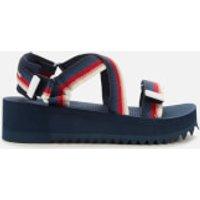 Tommy Jeans Women's Degrade Tape Flatform Sandals - Twilight Navy - UK 3.5