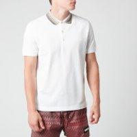 Missoni Men's Short Sleeve Collar Detail Polo Shirt - White - L