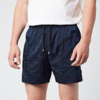 Missoni Men's Logo Print Drawcord Swim Shorts - Navy - M