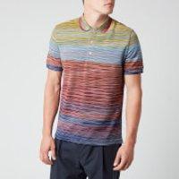Missoni Men's Stripe Short Sleeve Polo Shirt - Multi - S