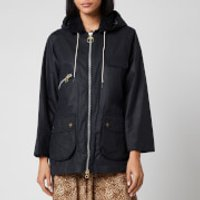 Barbour X Alexa Chung Women's Violet Mix Hooded Jacket - Navy/Red Navy Tartan - UK 12