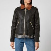 Barbour X Alexa Chung Womens Floyd Wax Jacket - Fern/Northum