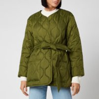 Barbour X Alexa Chung Women's Martha Cropped Quilt Jacket - Vintage Green - UK 12