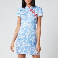 De La Vali Women's Suki Printed Jacquard Short Dress - Blue Primrose - UK 10