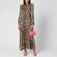 De La Vali Women's Clara Printed Satin Long Dress - Leopard - UK 6