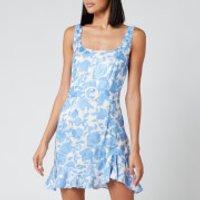 De La Vali Women's Christabel Printed Jacquard Short Dress - Blue Primrose - UK 12