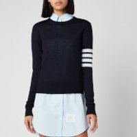 Thom Browne Women's Relaxed Fit Crew Neck Pullover - Navy - IT 42/UK 10