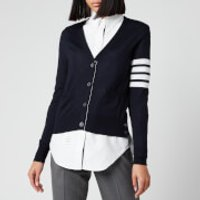 Thom Browne Women's Relaxed Fit V Neck Cardigan - Navy - IT 40/UK 8