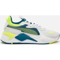 Puma Men's Rs-X Hard Drive Trainers - Puma White/Fizzy Yellow/Digi/Blue - UK 9