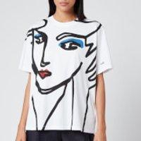 Victoria, Victoria Beckham Women's Beauty Face T-Shirt - White - S
