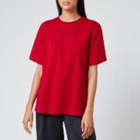 Victoria, Victoria Beckham Women's Logo Rib T-Shirt - Cherry Red - XS