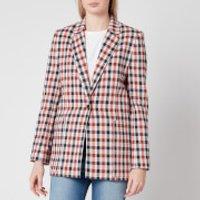 Victoria, Victoria Beckham Women's Patch Pocket Jacket - Cream/Sunset/Midnight - UK 10