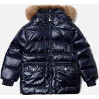 Pyrenex Boys' Authentic Shiny Synthetic Fur Jacket - Amiral - 2 Years