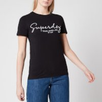 Superdry Women's Alice Script Emb Entry T-Shirt - Black - UK 8