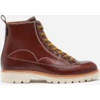 PS Paul Smith Mens Buhl Leather Lace Up Boots - Brown - UK 11