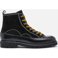 PS Paul Smith Mens Buhl Leather Lace Up Boots - Black - UK 8