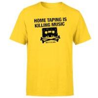 Home Taping Is Killing Music Black Mens T-Shirt - Yellow - XL - Yellow