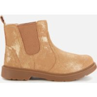 UGG Kids' Bolden Metallic Suede Chelsea Boots - Metallic Gold - UK 3 Kids