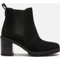 UGG Women's Hazel Waterproof Leather Heeled Chelsea Boots - Black - UK 6
