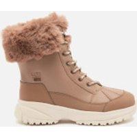 Ugg UGG Women's Yose Fluff Waterproof Leather Snow Boots - Caribou - UK 5
