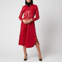 BOSS Womens Daledy Shirt Dress - Bright Red - UK 12